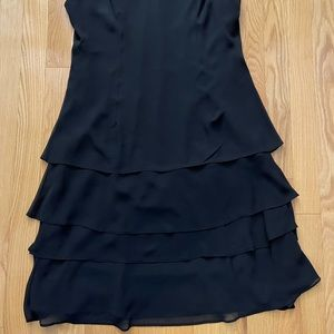 Jessica Scoop Neck Layered Dress